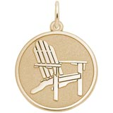 Gold Plated Deck Chair Charm by Rembrandt Charms