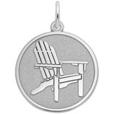 14k White Gold Deck Chair Charm by Rembrandt Charms