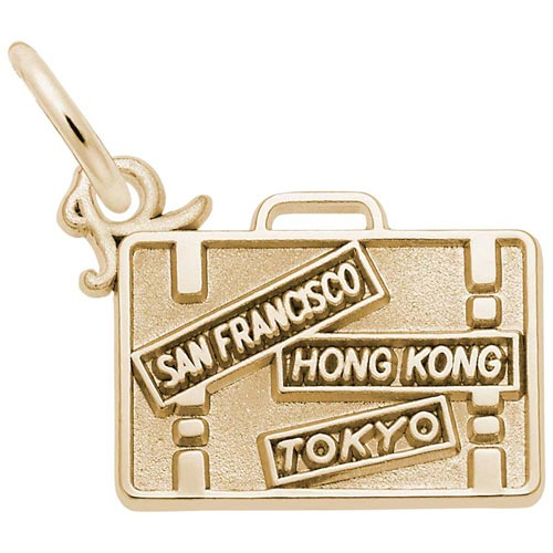 14K Gold Suitcase Charm by Rembrandt Charms