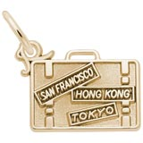 10K Gold Suitcase Charm by Rembrandt Charms