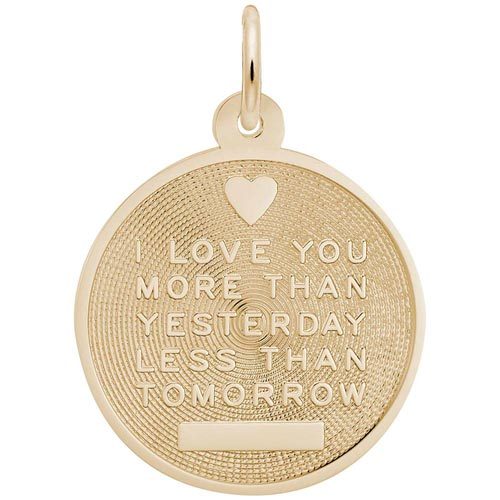 Gold Plated Love Charm by Rembrandt Charms