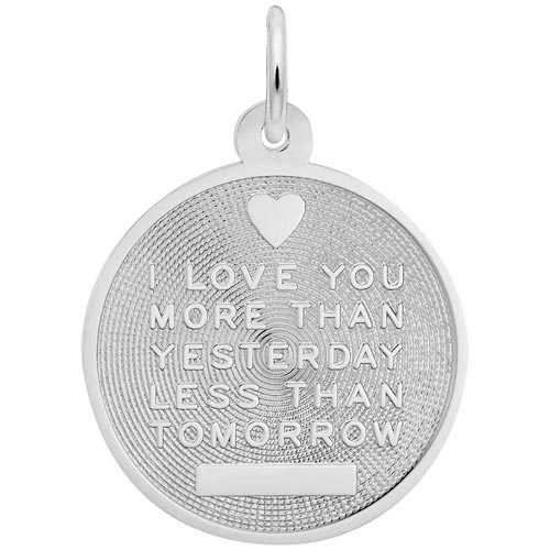 14K White Gold I Love You Charm by Rembrandt Charms