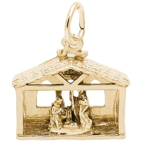 14K Gold Nativity Scene Charm by Rembrandt Charms