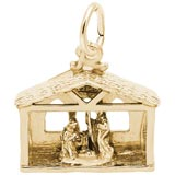 Gold Plate Nativity Scene Charm by Rembrandt Charms