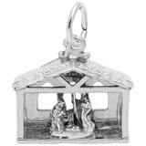 14K White Gold Nativity Scene Charm by Rembrandt Charms