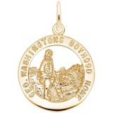 10K Gold George Washington's Charm by Rembrandt Charms