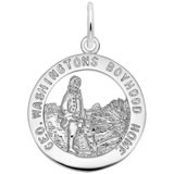 14K White Gold George Washington's Charm by Rembrandt Charms