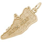 Gold Plated Heart Hilton Head Charm by Rembrandt Charms