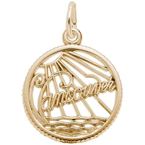 Gold Plate Vancouver Faceted Charm by Rembrandt Charms