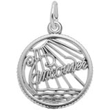 Sterling Silver Vancouver Faceted Charm by Rembrandt Charms