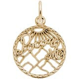14K Gold Pocono Mountains Faceted Charm by Rembrandt Charms