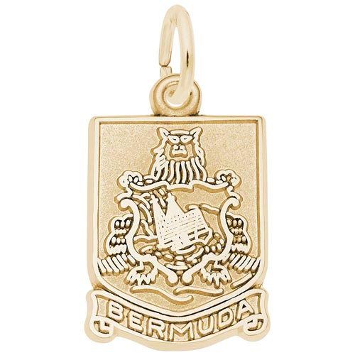 10K Gold Bermuda Crest Charm by Rembrandt Charms