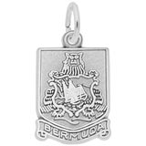 14K White Gold Bermuda Crest Charm by Rembrandt Charms