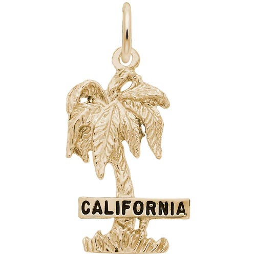 Gold Plated California Palm Tree Charm by Rembrandt Charms