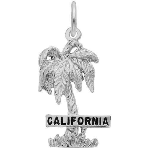 14K White Gold California Palm Tree Charm by Rembrandt Charms