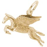 Gold Plate Pegasus Charm by Rembrandt Charms