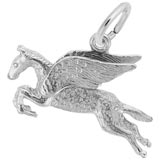 14K White Gold Pegasus Charm by Rembrandt Charms