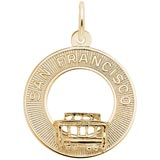 10K Gold San Francisco Cable Car Charm by Rembrandt Charms