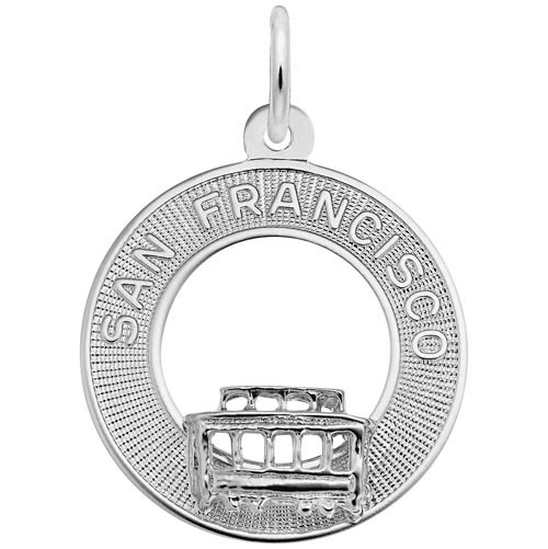 Sterling Silver San Francisco Cable Car Charm by Rembrandt Charms
