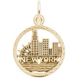 14k Gold New York Skyline Charm by Rembrandt Charms