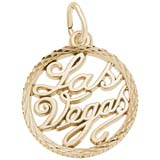 10K Gold Las Vegas Faceted Charm by Rembrandt Charms