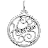 14K White Gold Houston Faceted Charm by Rembrandt Charms