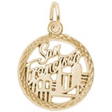 Gold Plate San Francisco Faceted Charm by Rembrandt Charms