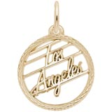 10K Gold Los Angeles Faceted Charm by Rembrandt Charms