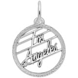 Sterling Silver Los Angeles Faceted Charm by Rembrandt Charms