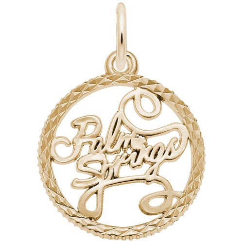 14K Gold Palm Springs Faceted Charm by Rembrandt Charms