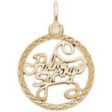 Gold Plate Palm Springs Faceted Charm by Rembrandt Charms