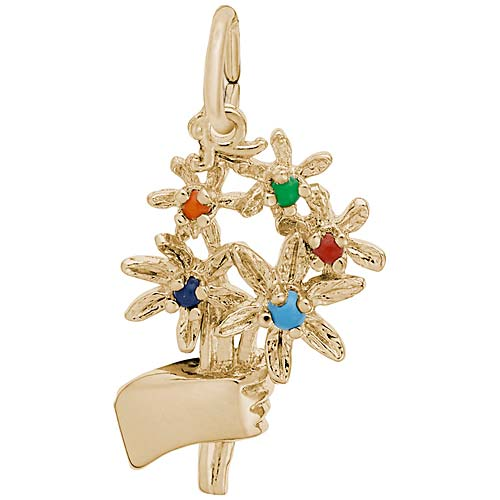 Gold Plated Bouquet Charm by Rembrandt Charms
