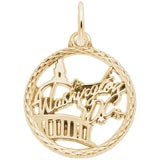 14K Gold Washington D.C. Faceted Charm by Rembrandt Charms