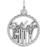 Sterling Silver Salt Lake City Faceted Charm by Rembrandt Charms