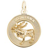 14K Gold Montana Moose Charm by Rembrandt Charms