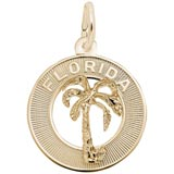 Gold Plated Florida Palm Tree Charm by Rembrandt Charms