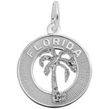 14k White Gold Florida Palm Tree Charm by Rembrandt Charms