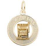 Gold Plated Las Vegas Charm by Rembrandt Charms