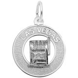 14k White Gold Las Vegas Charm by Rembrandt Charms