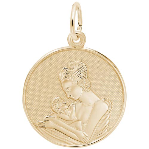 Gold Plated Mother and Baby Charm by Rembrandt Charms