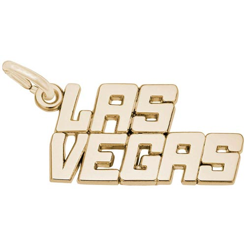 Gold Plate Las Vegas Charm by Rembrandt Charms