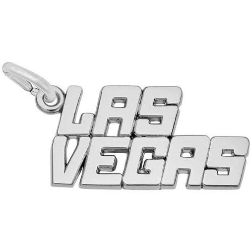 14K White Gold Las Vegas Charm by Rembrandt Charms