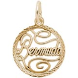 Gold Plate Bermuda Faceted Charm by Rembrandt Charms