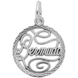 Sterling Silver Bermuda Faceted Charm by Rembrandt Charms