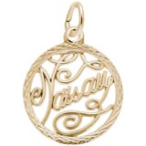 10K Gold Nassau Faceted Charm by Rembrandt Charms