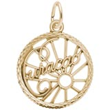 Gold Plate Curacao Faceted Charm by Rembrandt Charms
