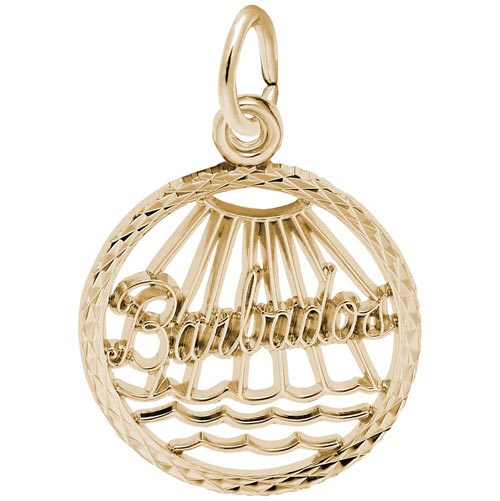 14K Gold Barbados Faceted Charm by Rembrandt Charms