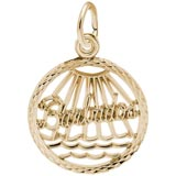10K Gold Barbados Faceted Charm by Rembrandt Charms