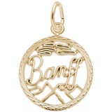 14K Gold Banff, Canada Faceted Charm by Rembrandt Charms