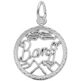 14K White Gold Banff, Canada Faceted Charm by Rembrandt Charms